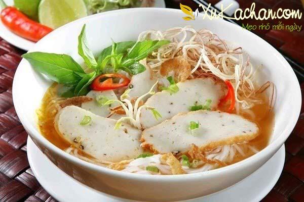 Thành phẩm món bún chả cá Nha Trang có được - cách nấu bún chả cá Nha Trang