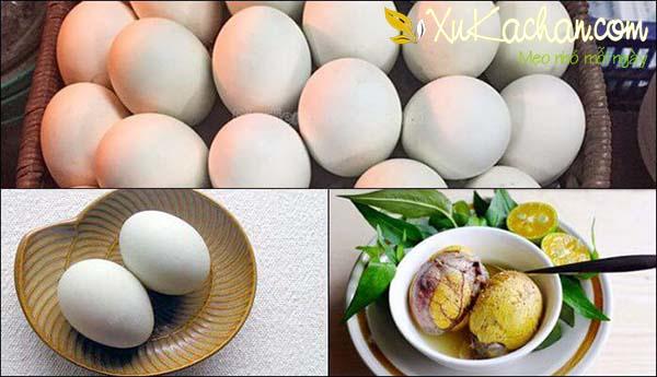 Luộc trứng vịt hột - cách luộc trứng vịt lộn ngon