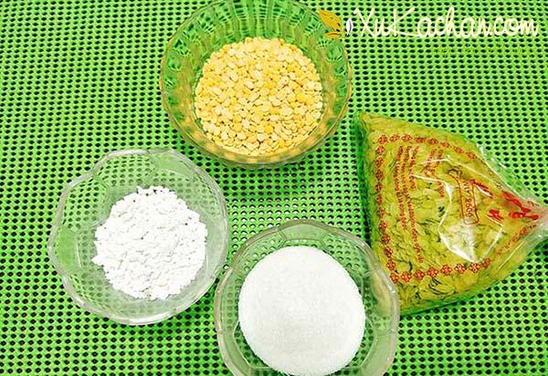 Một số nguyên liệu nấu chè cốm đậu xanh cần chuẩn bị