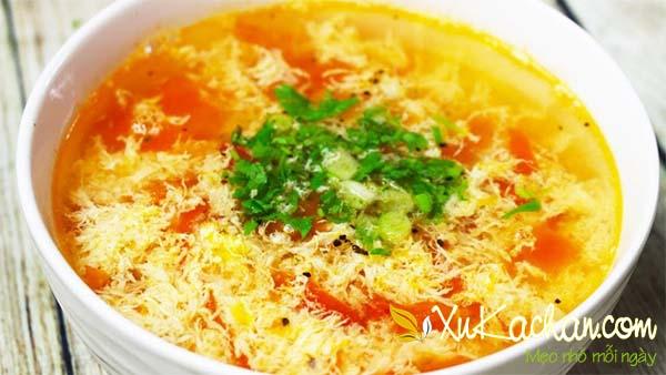 Canh cà trứng cà chua và đậu phụ - cách nấu canh trứng