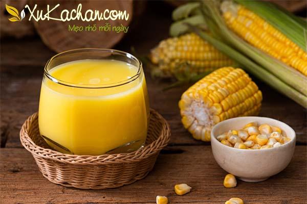 Sữa bắp thơm ngon béo ngậy cho bé - cách làm sữa bắp cho bé