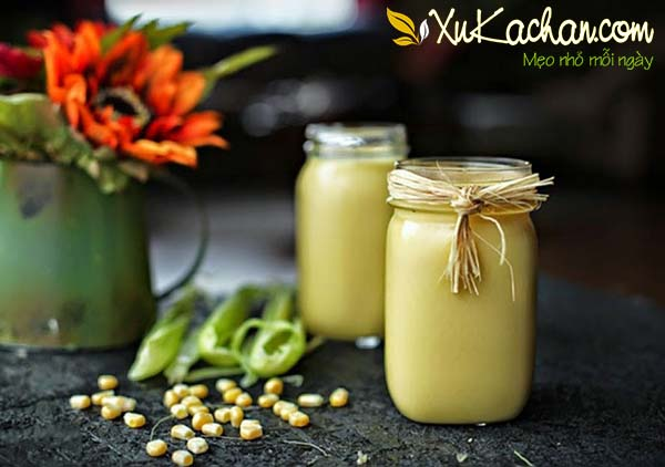 Sữa ngô hạt sen