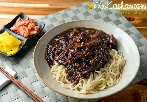 Mì tương đen Hàn Quốc - cách làm mì tương đen hàn quốc