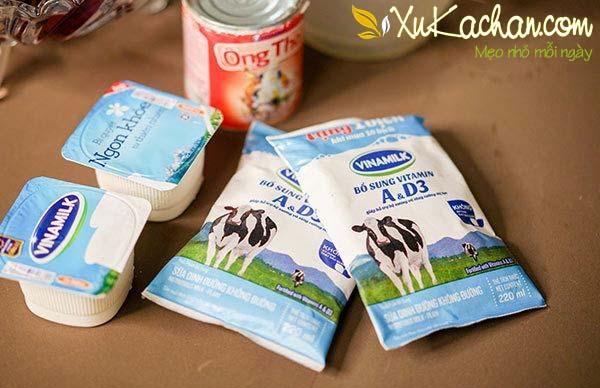 Một số nguyên liệu làm sữa chua bịch cần chuẩn bị