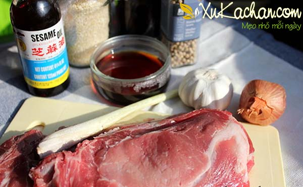 Một số nguyên liệu làm thịt xiên nướng chuẩn vị Hà Nội cần chuẩn bị - cach lam thit xien nuong chua vi