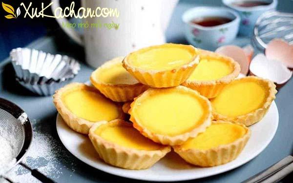 Bánh tart trứng thơm vị bơ béo vị trứng