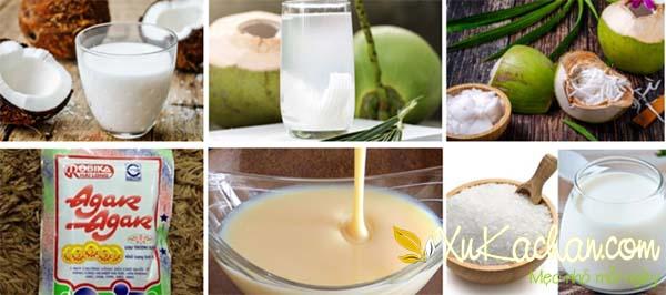 Một số nguyên liệu làm dừa dầm cần chuẩn bị