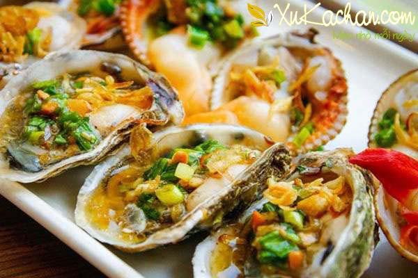 Hàu nướng mỡ hành thơm ngon hấp dẫn - cach lam hau nuong mo hanh