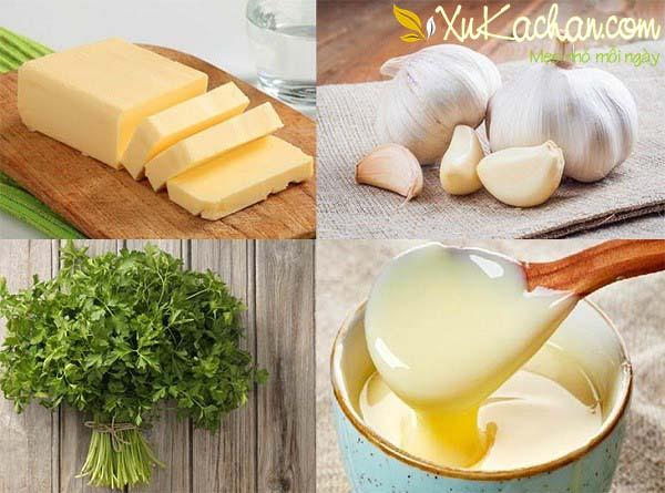 Một số nguyên liệu làm sốt bơ tỏi cần chuẩn bị