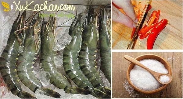 Một số nguyên liệu làm tôm nướng muối ớt cần chuẩn bị - cach lam tom nuong muoi ot