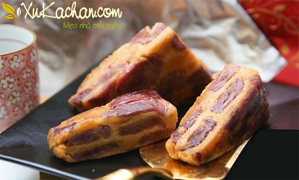 Thành phẩm món bánh chuối nướng nước cốt dừa có được