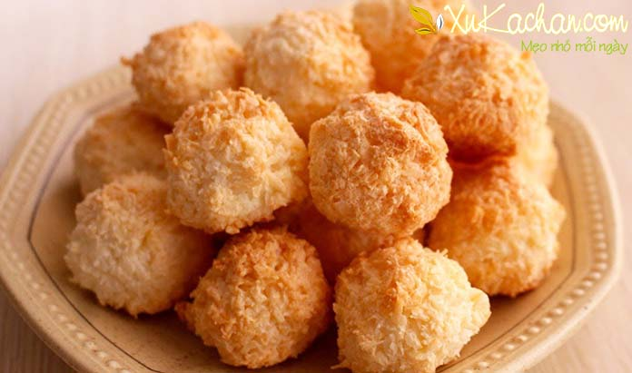 Bánh dừa nướng thơm ngon giòn rụm vô cùng hấp dẫn
