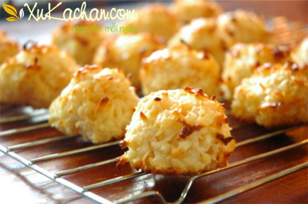 Thành phẩm món bánh dừa nướng có thơm ngon giòn rụm