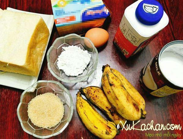 Một số nguyên liệu làm bánh chuối nước cốt dừa cần chuẩn bị