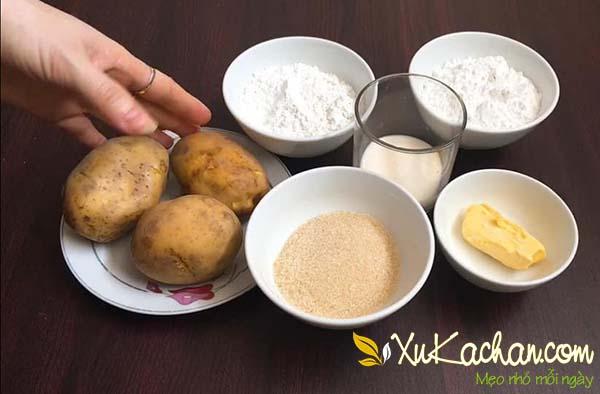 Một số nguyên liệu làm khoai tây chiên bơ cần chuẩn bị - cách làm khoai tây chiên bơ