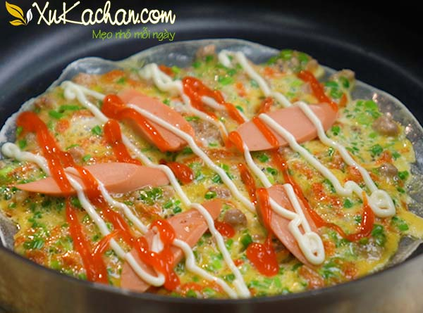 Nướng bánh tráng bằng chảo chống dính