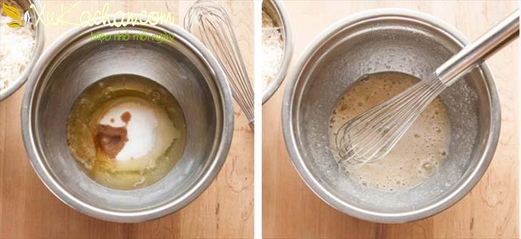 Trộn lòng trắng trứng với gia vị