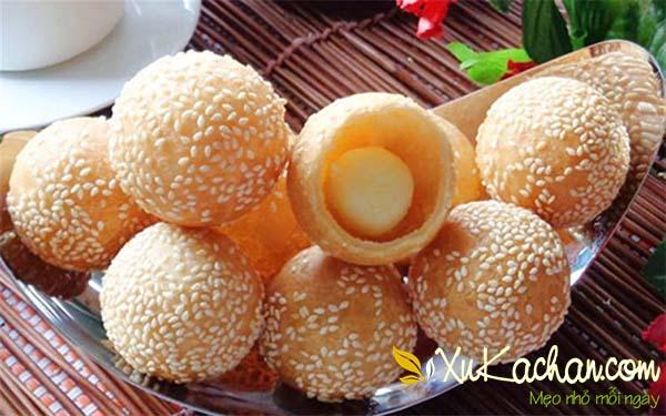 Bánh rán nhân đậu xanh giòn bùi, thơm ngon - cach lam banh ran