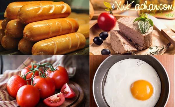 Một số nguyên liệu làm bánh mì chảo cần chuẩn bị