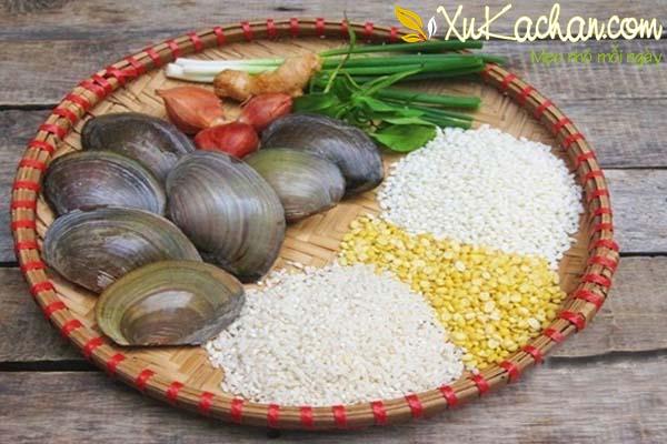 Một số nguyên liệu nấu cháo trai ngon cần chuẩn bị - cach nau chao trai ngon